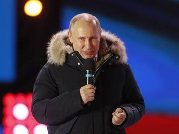 Putin celebra su reelección en las presidenciales