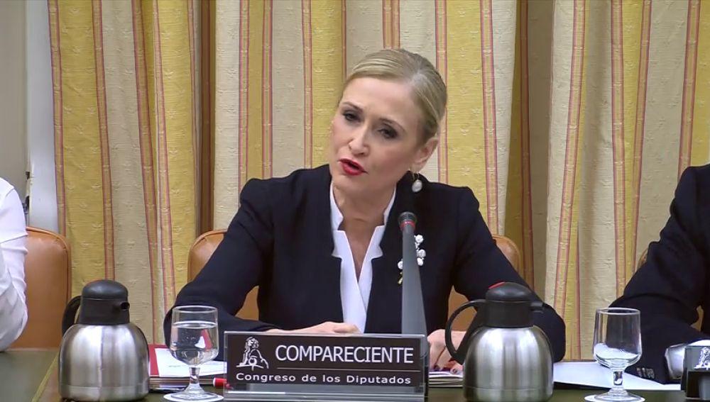 Cifuentes comparece este martes en la comisión del Congreso que investiga la financiación del PP