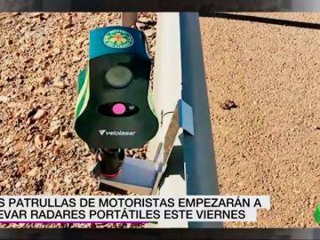 'Velolaser', los radares portátiles de las patrullas motoristas llegan este viernes