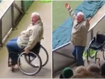 Se hace pasar por discapacitado para entrar a un estadio