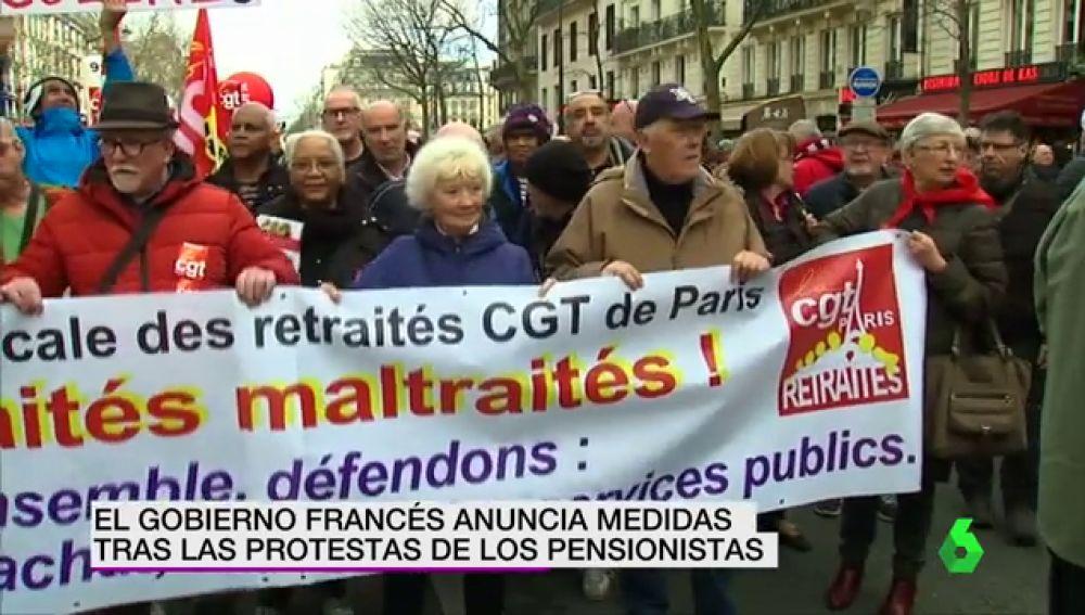 Las protestas de los pensionistas franceses logran que Macron mueva ficha y Alemania anuncia una subida de las pensiones del 3%