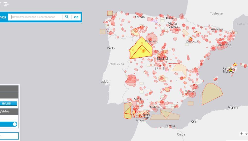 Mapa Zonas Vuelo Drones.Esta Web Oficial Te Dice Donde Puedes Volar El Dron Que Te