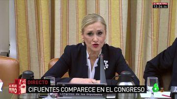 El Congreso interroga a Cristina Cifuentes por la supuesta financiación ilegal del partido