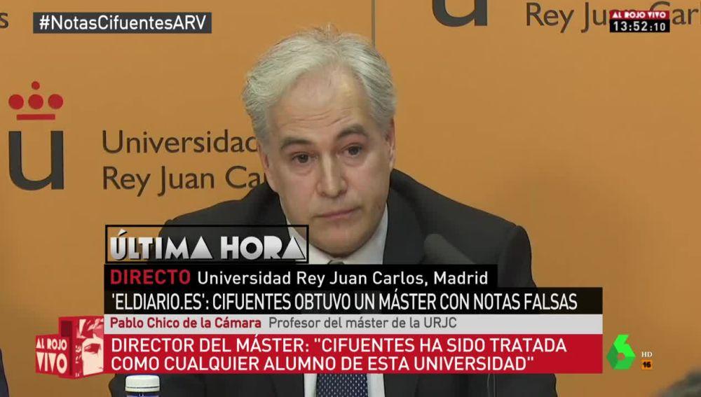 Pablo Chico de la Cámara, uno de los profesores del máster de Cifuentes en la URJC