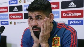 Diego Costa en rueda de prensa