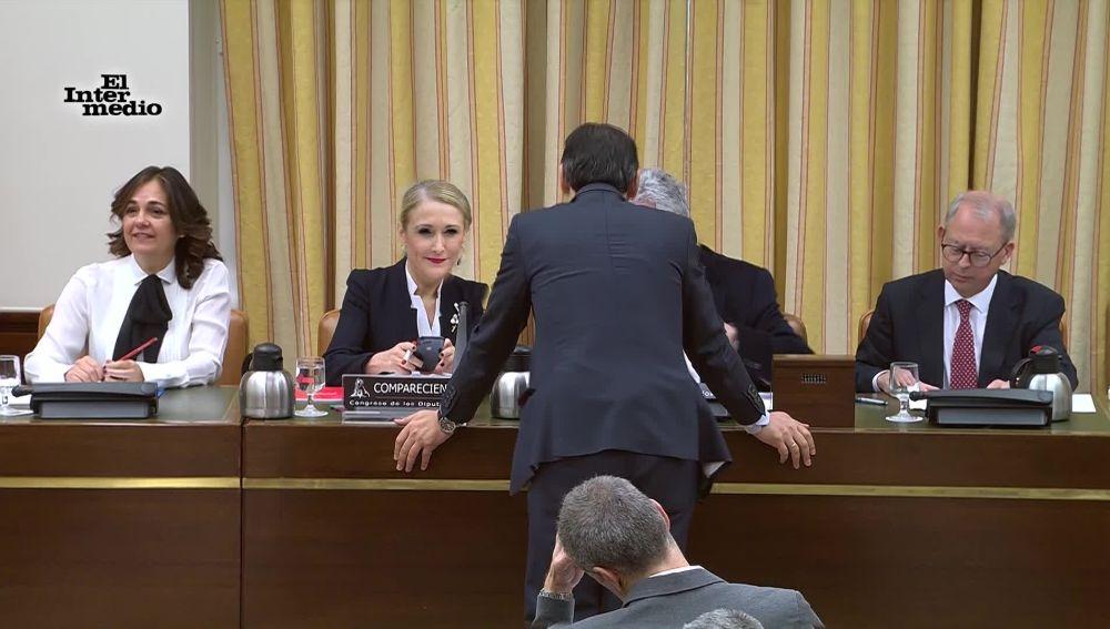 El flirteo de Cristina Cifuentes y Fernando Martínez-Maíllo ante los diputados