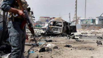 Imagen de archivo de un atentado con bomba en Kabul