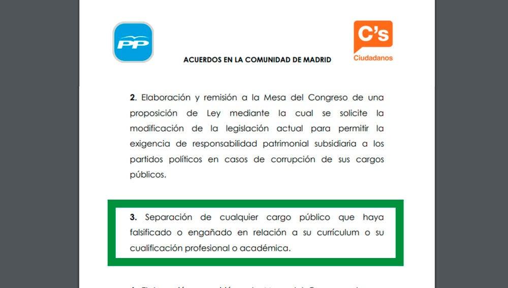 Acuerdo PP Ciudadanos