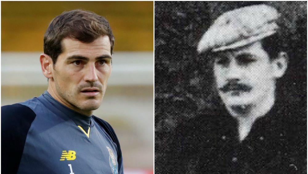 Iker Casillas y el suizo Hans Heinrich Suter