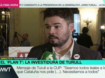 Gabriel Rufian, diputado de ERC en el Congreso