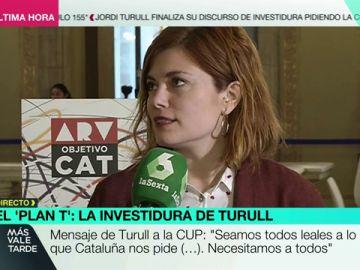 La portavoz del Grupo Parlamentario En Comú Podem, Elisenda Alamany