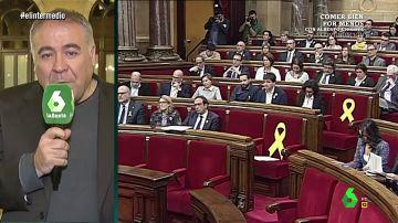 Antonio García Ferrreras, en el Parlament