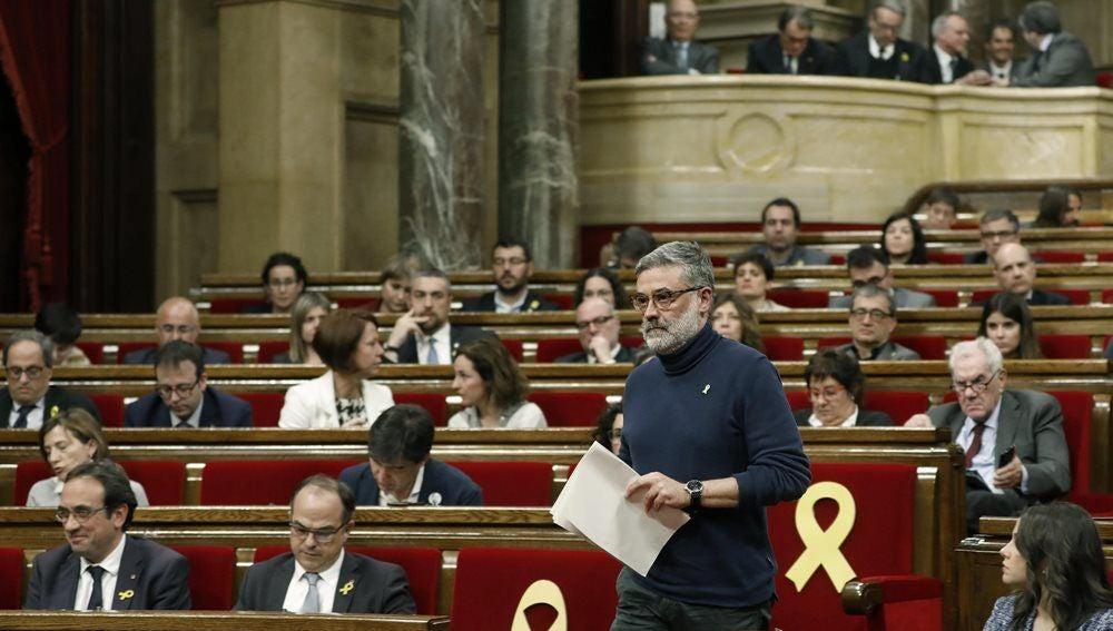 Carles Riera, en el Parlament
