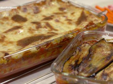 Musaka y lasaña de verduras