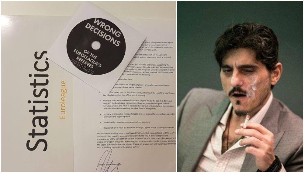 Giannakopoulos y su dossier enviado a los medios