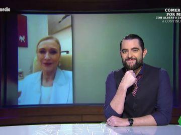 Dani Mateo desvela en El Intermedio cuál ha sido el primer vídeo que emitió en directo Cristina Cifuentes