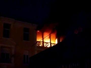 Incendio de una vivienda en Málaga