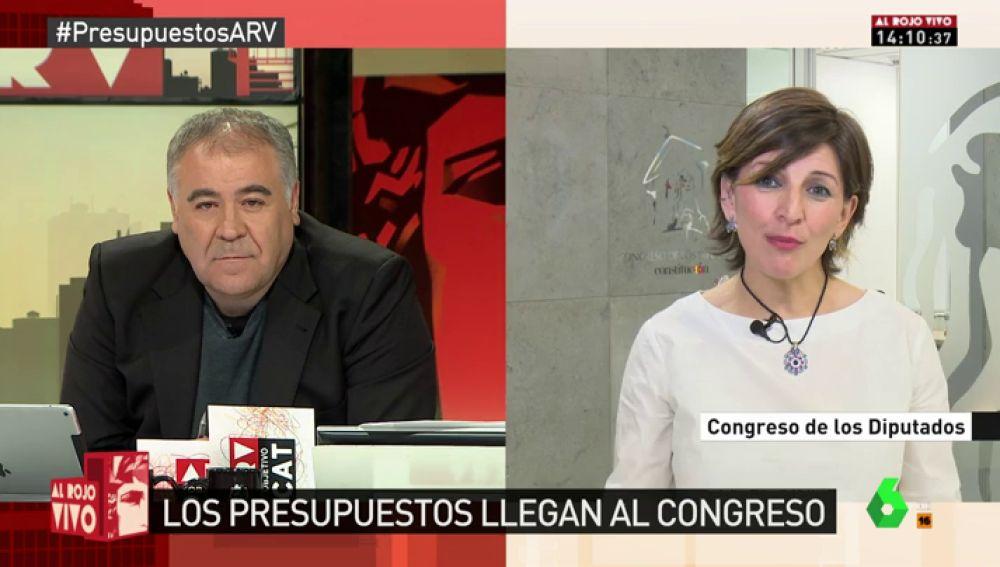 Yolanda Díaz, portavoz de En Marea en el Congreso