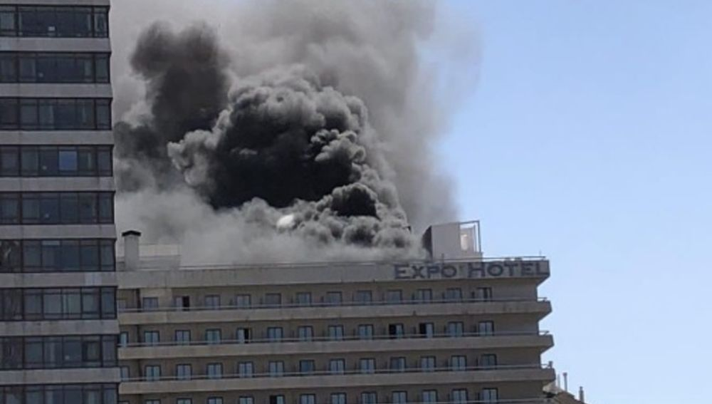Incendio en el Expo Hotel Barcelona