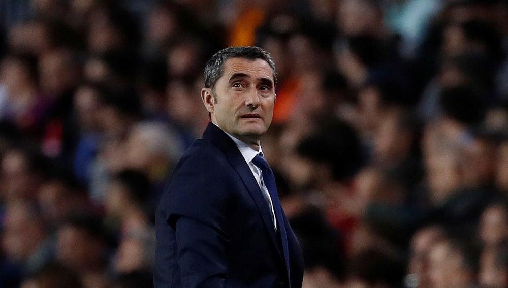 Valverde, en el partido contra la Roma