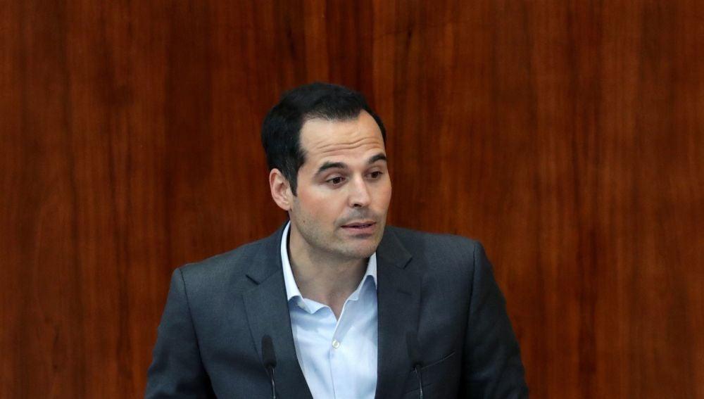 Ignacio Aguado, en la Asamblea de Madrid