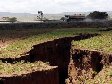 La grieta aparecida en Kenia