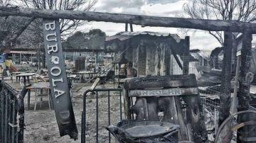 Burrolandia, arrasado tras un incendio