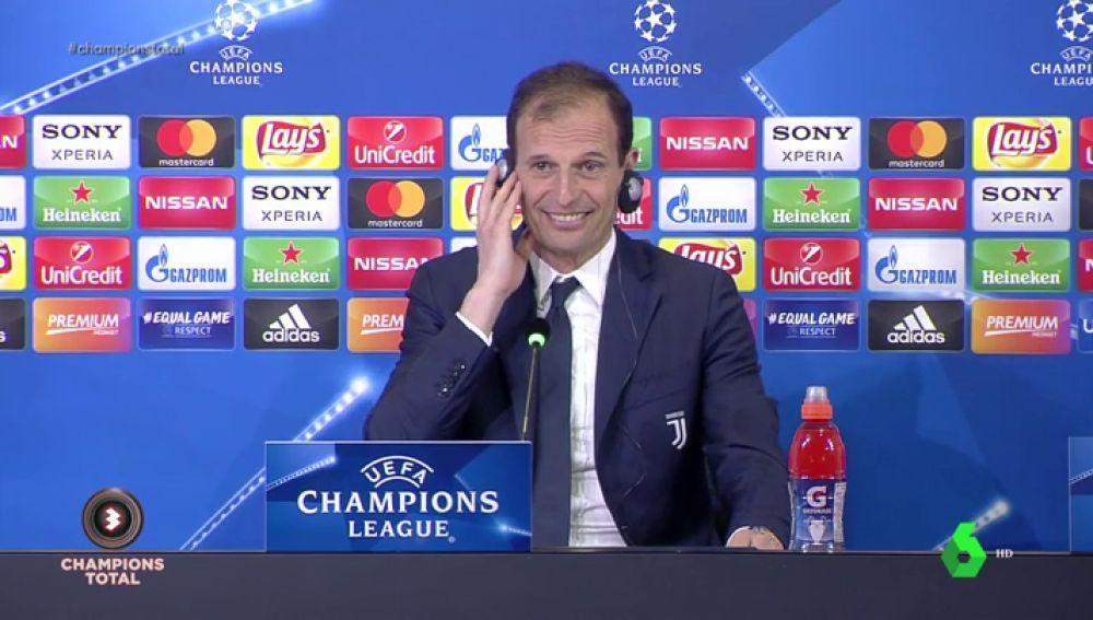 """Allegri: """"Desde hace un par de años Cristiano es el mejor delantero centro del mundo"""""""