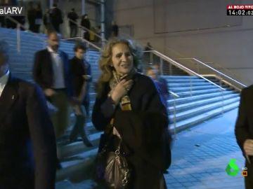 La infanta Elena a la salida del cine