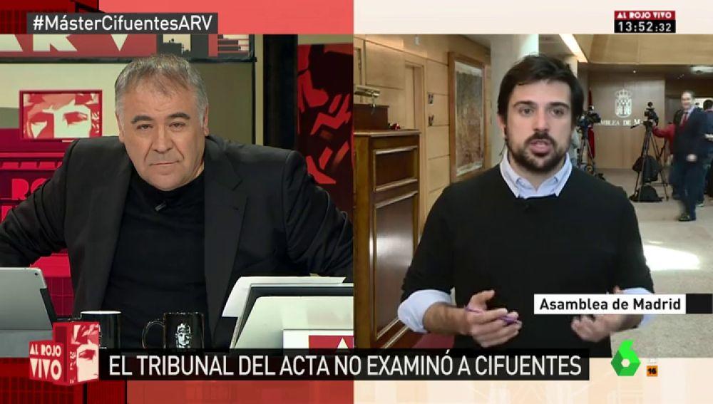 El secretario general de Podemos en la Comunidad de Madrid, Ramón Espinar