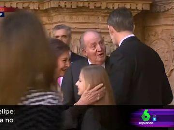 El rey Juan Carlos y el rey Felipe