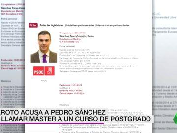 PEDRO SANCHEZ MASTER