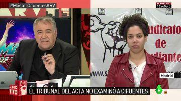 La secretaria general del Sindicato de Estudiantes Ana García