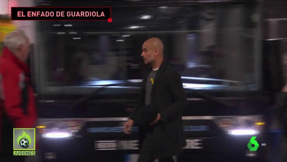 """El enfado de Guardiola con la Policía tras el ataque al autobús del City: """"Gracias por protegernos... vergüenza"""""""