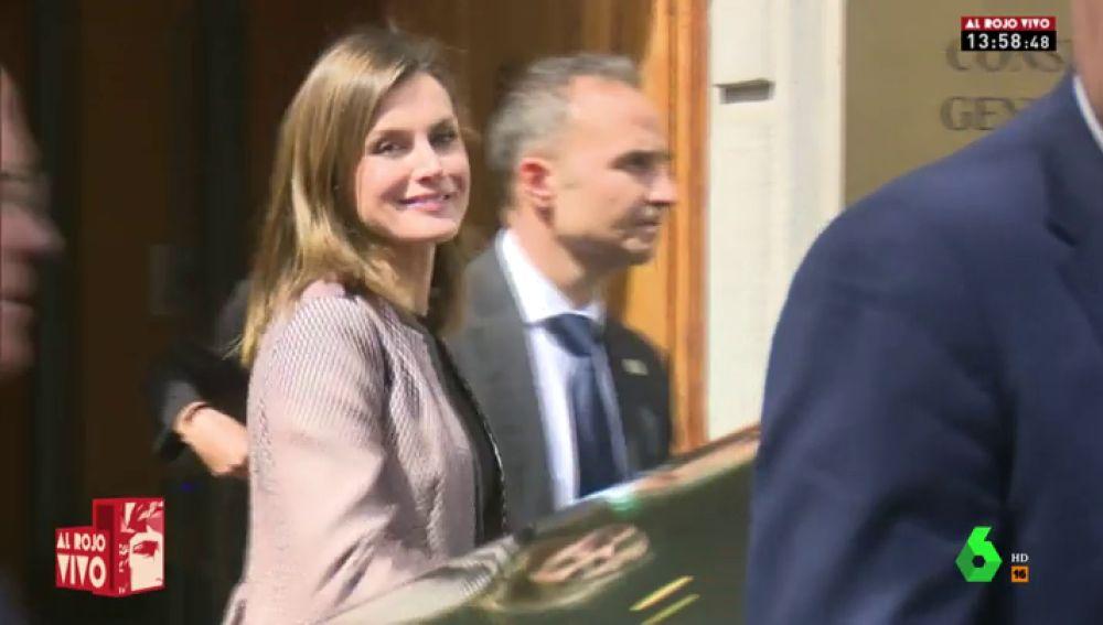 La reina Letizia, tras su acto en Madrid