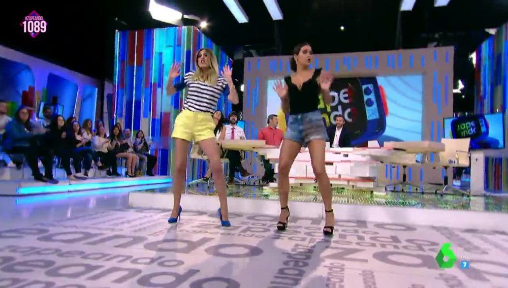 Anna Simon y Cristina Pedroche se atreven con la nueva coreografía de 'Lo malo' de Aitana War
