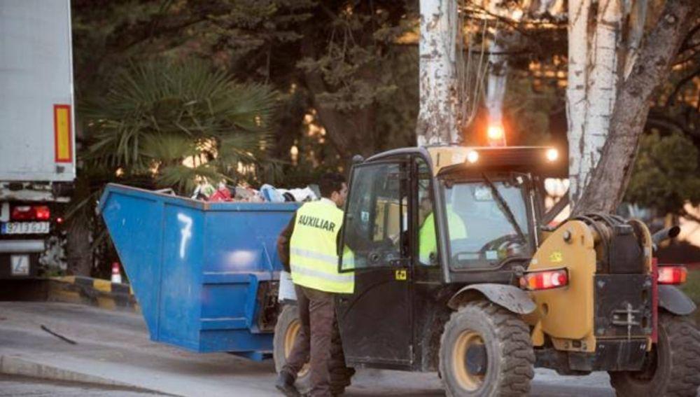Vista de la planta de reciclaje de basuras de Alhendín donde se encontró el cadáver
