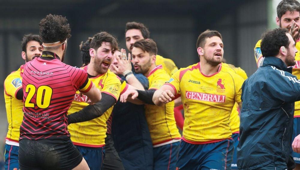 Momento del España - Bélgica de rugby