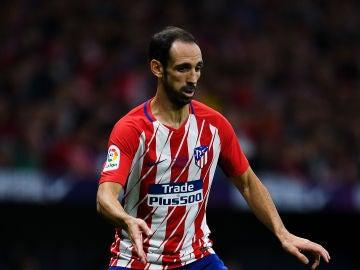 Juanfran Torres, en un partido con el Atlético de Madrid