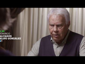 """Jordi Évole vuelve a encontrarse con Felipe González cuatro años después de su 'predicción': """"No sé si ha pensado usted en dedicarse a ser vidente"""""""