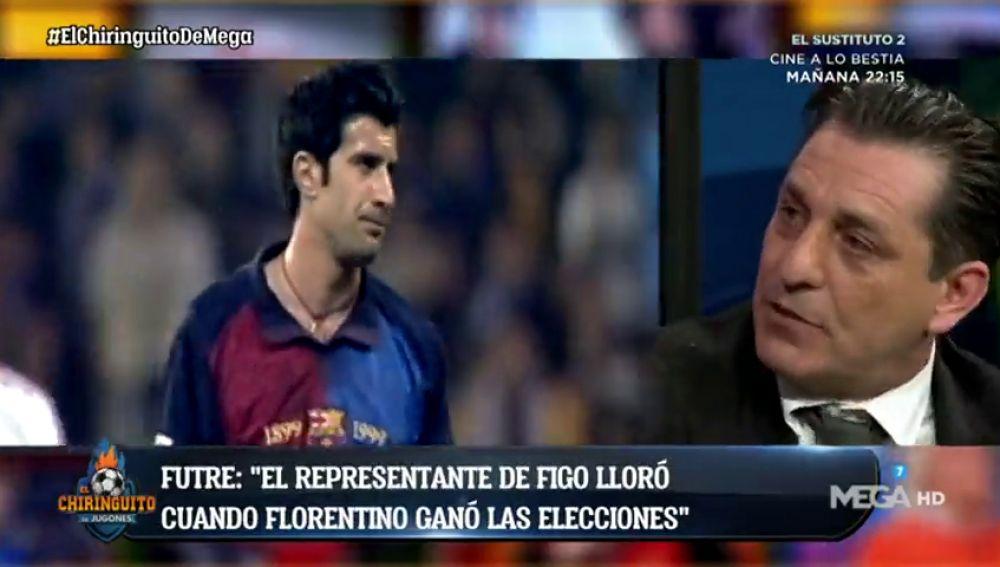 """Futre desvela en 'El Chiringuito' los detalles del fichaje de Figo por el Madrid: """"No se quería ir"""""""