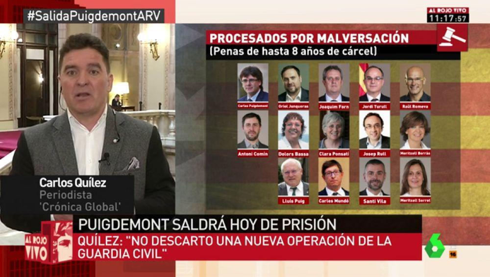 """Carlos Quílez: """"Hay una pieza secreta de malversación porque es la obsesión de la Guardia Civil y de Llarena"""""""