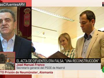 """José Manuel Franco: """"Hay responsabilidad política de Cifuentes. No existe máster ni trabajo y existe un auténtico sainete"""""""
