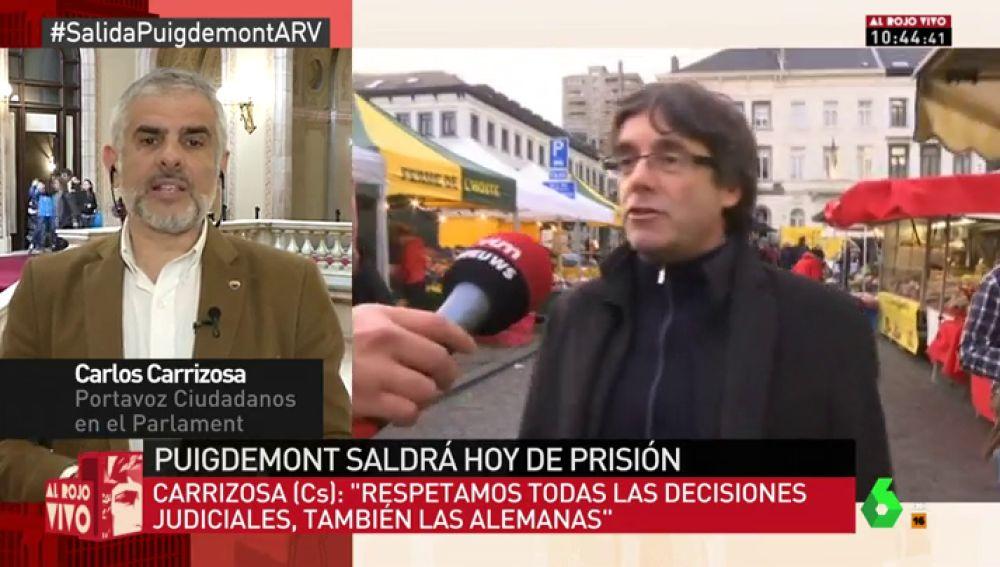 """Carlos Carrizosa, tras la libertad de Puigdemont: """"Pintan como victoria algo que no es. Siguen presos y prófugos"""""""