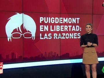 Sin delito de rebelión, sin violencia, sin riesgo de fuga... las razones de la puesta en libertad de Puigdemont