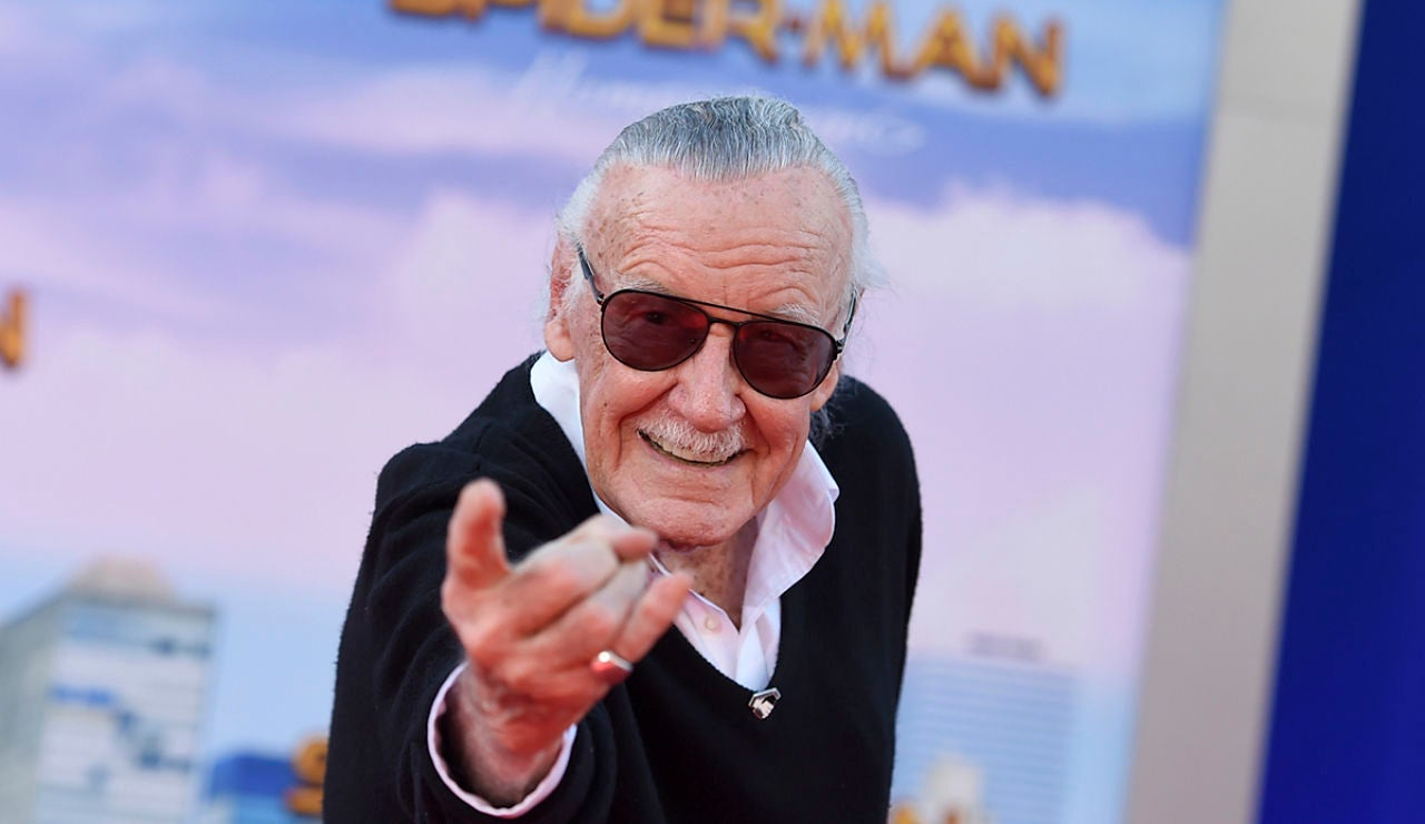 Stan Lee en la premiere de SpiderMan Homecoming'