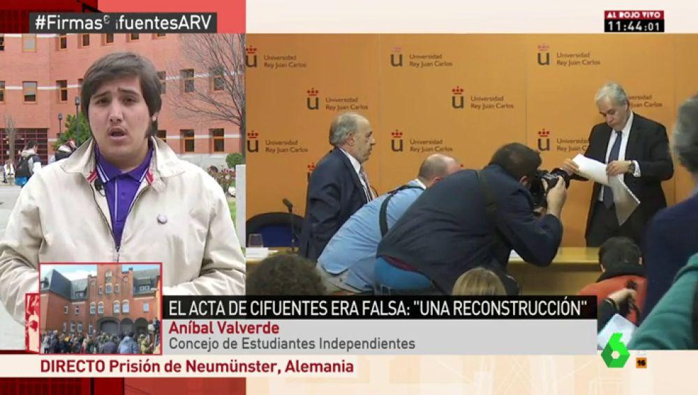 """Aníbal Valverde: """"La presión popular debe desalojar a Cifuentes y a toda la mafia de sus sillones de poder"""""""