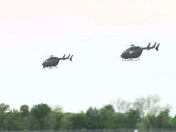 Helicópteros estadounidenses se dirigen a la frontera de México