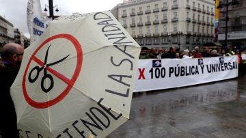 Manifestación en Madrid por la Sanidad pública