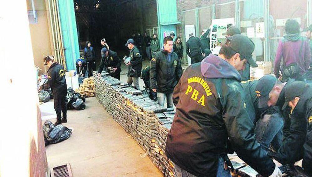 Imagen del depósito del que han desaparecido 540 kilos de marihuana